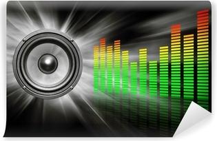 Carta da Parati in Vinile Speaker audio