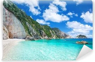 Carta da Parati in Vinile Spiaggia di petani, Cefalonia, Grecia