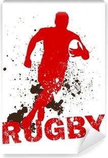 Carta da Parati in Vinile Sporco Rugby Player