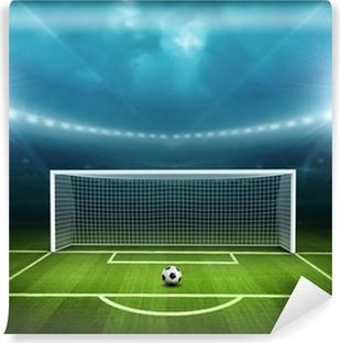 Carta da Parati in Vinile Stadio con pallone da calcio