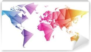 Carta da Parati in Vinile Świat trójkąty WEKTOR