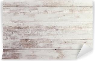 Carta da Parati in Vinile Tavole di legno bianco con la trama come sfondo