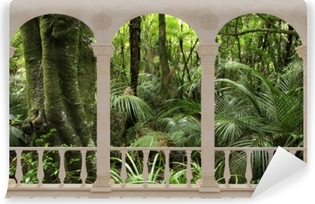Carta da Parati in Vinile Terrazza - Foresta tropicale