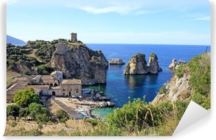 Carta da Parati in Vinile Tonnara di Scopello - Sicilia - Italy