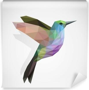 Carta da Parati in Vinile Uccello / Hummingbird colorato