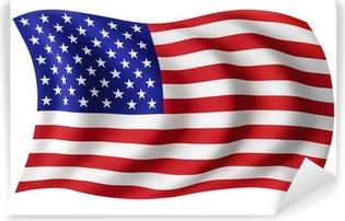 Carta da Parati in Vinile USA bandiera degli Stati Uniti - Bandiera americana