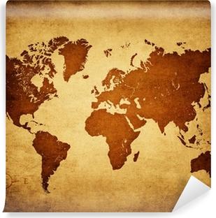 Carta da Parati in Vinile Vecchia mappa del mondo
