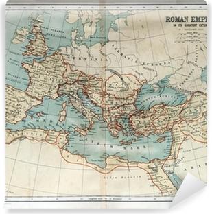 Carta da Parati in Vinile Vecchia mappa dell'Impero Romano 1870