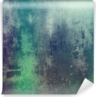 Carta da Parati in Vinile Vecchia struttura come sfondo astratto grunge. Con differenti modelli di colore: verde; viola porpora); grigio; ciano