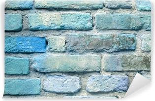 Carta da Parati in Vinile Vecchio sfondo blu muro di mattoni