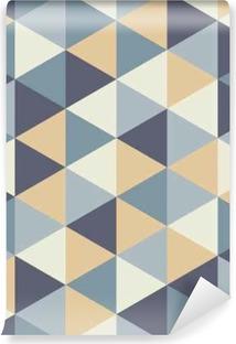 Carta da Parati in Vinile Vector moderno senza soluzione di modello colorato geometria del triangolo, colore di sfondo astratto geometrica, cuscino di stampa multicolore, retro tessitura, design di moda pantaloni a vita bassa