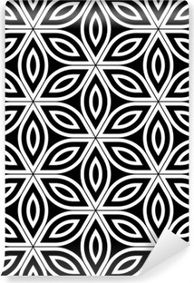 Carta da Parati in Vinile Vector moderno senza soluzione di modello Geometria Sacra, in bianco e nero astratto fiore geometrica di sfondo la vita, stampa carta da parati, in bianco e nero retrò tessitura, design di moda pantaloni a vita bassa