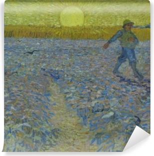 Carta da Parati in Vinile Vincent van Gogh - Seminatore al tramonto