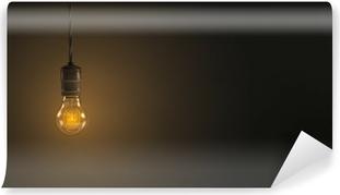 Lampade A Sospensione Vintage : Adesivo vintage lampada a sospensione lampadina su sfondo scuro