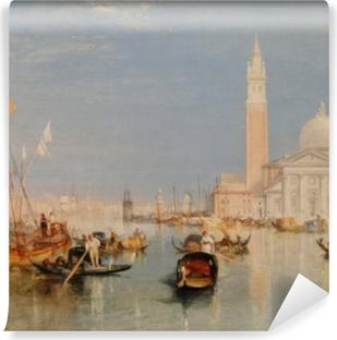 Carta da Parati in Vinile William Turner - La Dogana e San Giorgio Maggiore