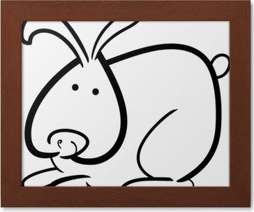 Boyama Kitabı Için Karikatür Tavşan Duvar Resmi Pixers Haydi
