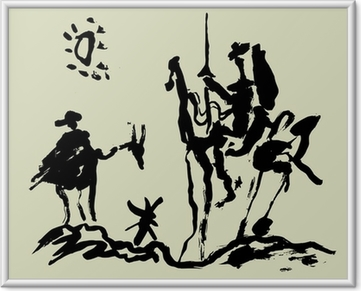 Çerçeveli Poster Дон Кихот