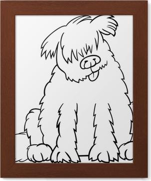 Boyama Kitabı Için Newfoundland Köpek Karikatür çıkartması