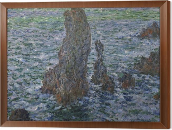 Çerçeveli Tuval Claude Monet - Belle Ile en Kayalar - Benzetiler