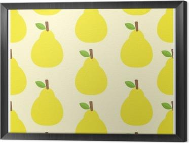 Çerçeveli Tuval Desen vektör arka plan Sevimli meyve rengi lezzetli Yuvarlak Bak