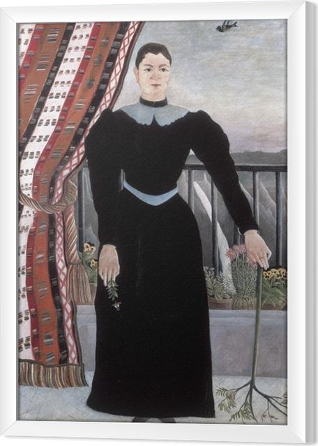 Çerçeveli Tuval Henri Rousseau - Bir Kadının Portresi - Benzetiler