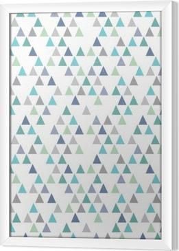 Çerçeveli Tuval Kesintisiz yenilikçi geometrik desen aqua mavi üçgenler