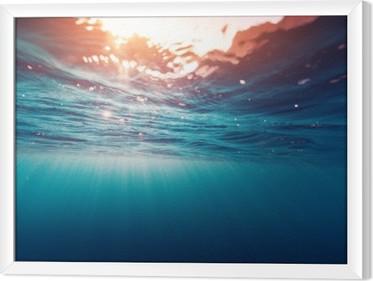 Çerçeveli Tuval Mavi Deniz