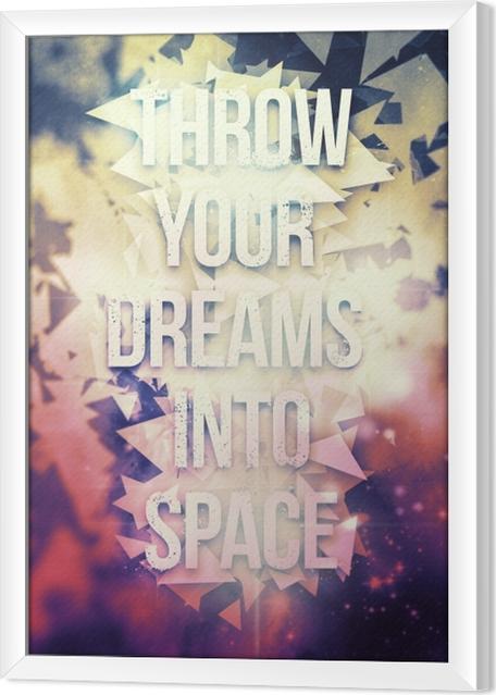 Çerçeveli Tuval Motivasyon poster -