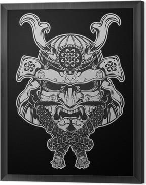 Çerçeveli Tuval Samuray Maskesi