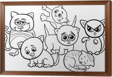 Aslan Karikatür Boyama Duvar Resmi Pixers Haydi Dünyanızı