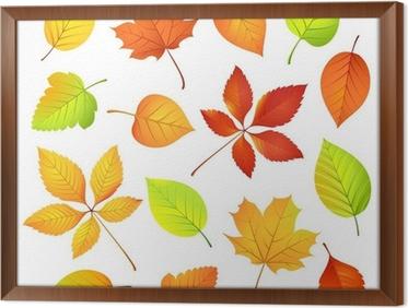 Sonbahar Yaprakları Vektör çizim çerçeveli Poster Pixers Haydi