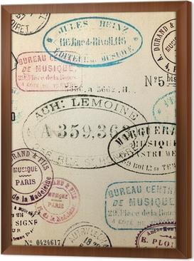 Çerçeveli Tuval Vintage pulları arka plan