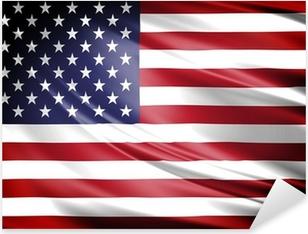 Çıkartması Pixerstick Amerika Bayrağı
