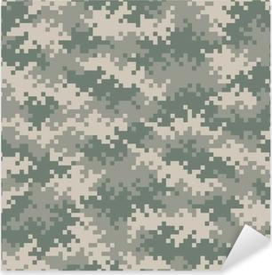 Çıkartması Pixerstick Askeri kamuflaj piksel desen sorunsuz tileable