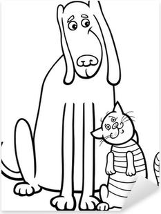 Boyama Kitabi Icin Kopek Ve Kedi Karikatur Duvar Resmi Pixers