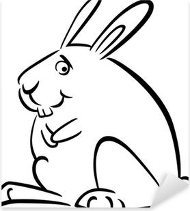 çılgın Karikatür Tavşan çıkartması Pixerstick Pixers Haydi