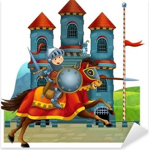 Çıkartması Pixerstick Çocuklar için çizgi Ortaçağ illüstrasyon