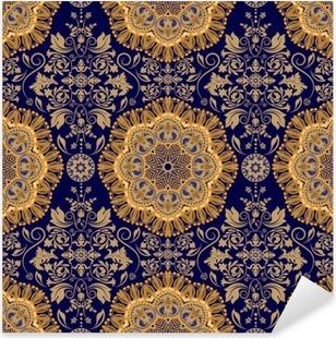 Çıkartması Pixerstick Damask seamless pattern