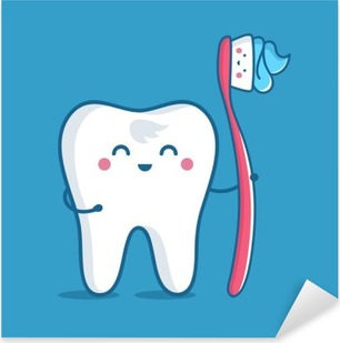 Çıkartması Pixerstick Diş fırçası ile diş