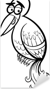 Boyama Kitabi Icin Kucuk Kus Karikatur Cikartmasi Pixerstick
