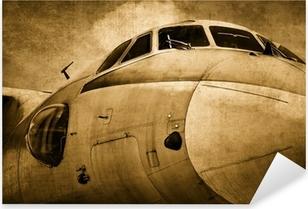 Çıkartması Pixerstick Eski askeri uçak