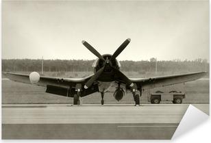 Çıkartması Pixerstick Eski pervaneli uçak