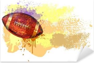 Çıkartması Pixerstick Futbol Banner .__ Tüm elemanlar ayrı katmanlar ve gruplandırılmış bulunmaktadır. __