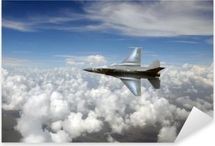 Çıkartması Pixerstick Gökyüzünde jetfighter