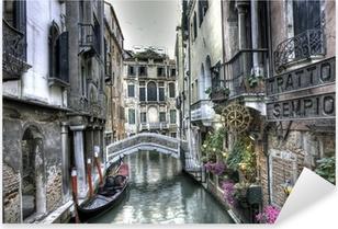Çıkartması Pixerstick Gondol, binalar ve köprü, Venedik, İtalya