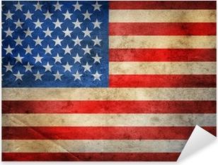 Çıkartması Pixerstick Grunge ABD Bayrağı