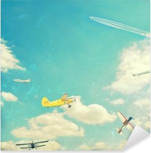 Çıkartması Pixerstick Havacılık arka plan
