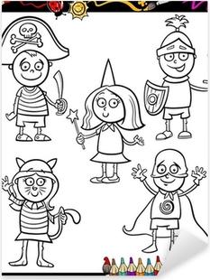 Kostümleri çocuklar Boyama Ayarlamak Duvar Resmi Pixers Haydi