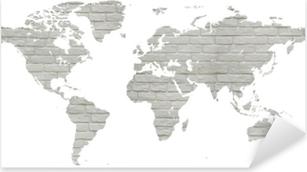 Çıkartması Pixerstick Mapa świata