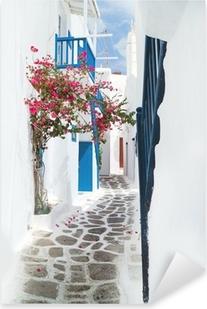 Çıkartması Pixerstick Mykonos adasında, Yunanistan ile ilgili geleneksel Yunan ev